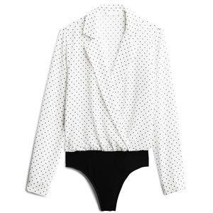 New With Tags Lush Kalene Notch Lapel Bodysuit